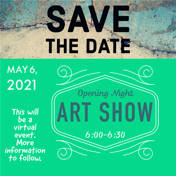 Save the date Virtual Art Show