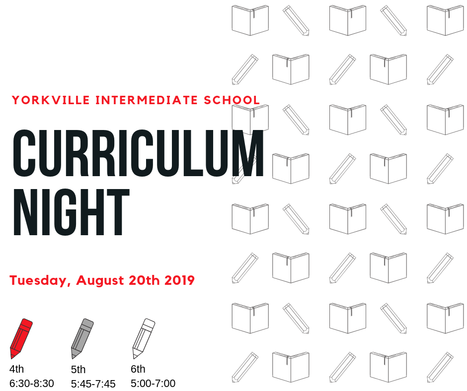 Curriculum Night this Tuesday!