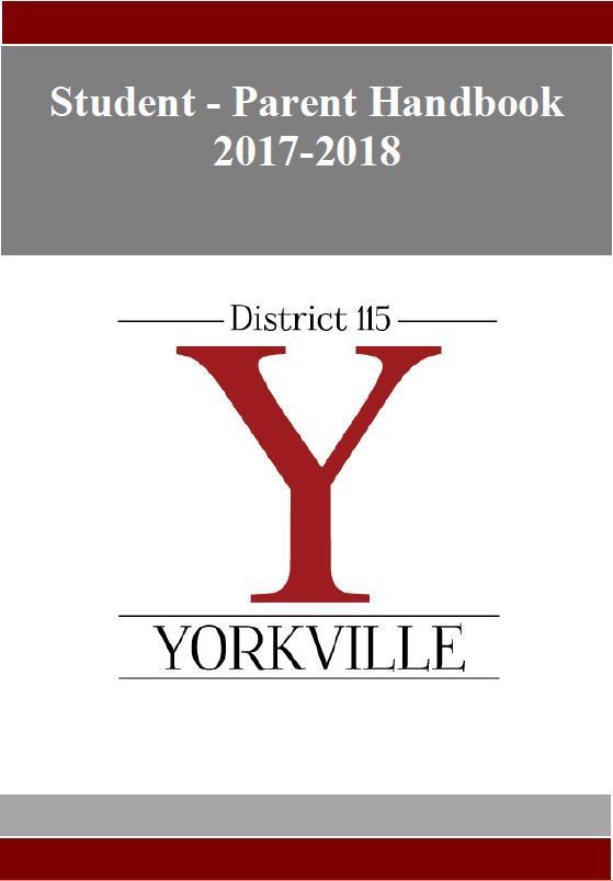 Front cover of a District 115 Parent-Student Handbook